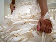#نيويورك.. فساتين زفاف مصنوعة من المناديل الورقية