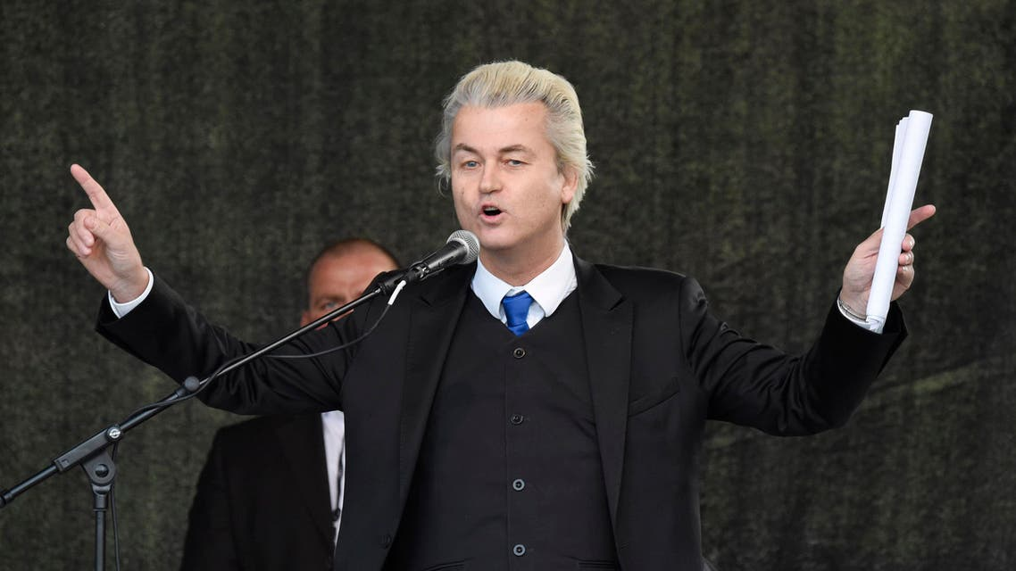 Geert Wilders, leader of the Dutch anti-Islam Freedom Party, speaks at a rally of so-called 'Patriotic Europeans against the Islamization of the West' (PEGIDA) in Dresden, Germany, Monday, April 13, 2015. (File Photo: AP)