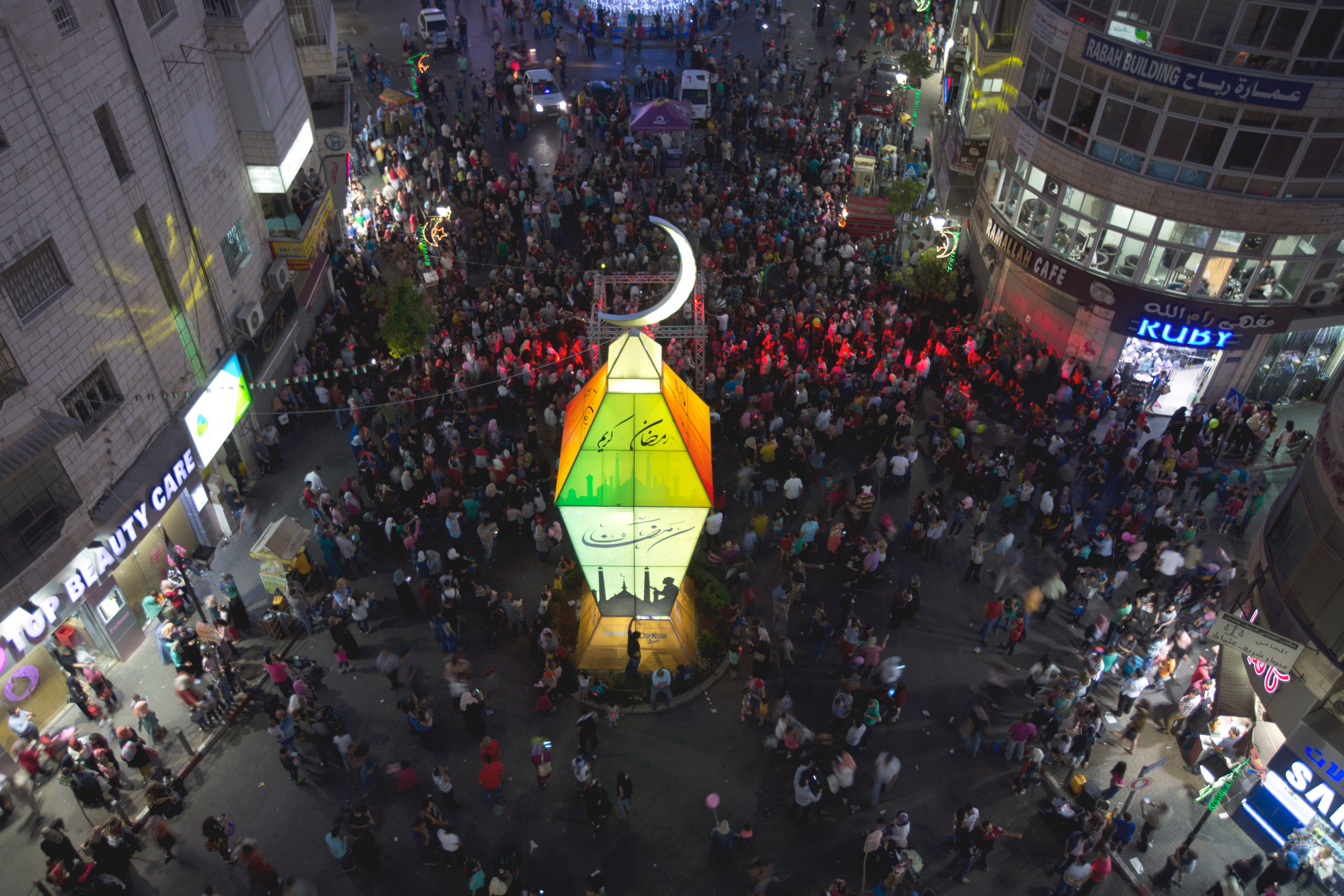 How did the ramadan lantern become a symbol of the holy month palestinians watch the lighting of a big lantern to mark the upcoming islamic holiday of ramadan at the center of the west bank city of ramallah tuesday biocorpaavc Images