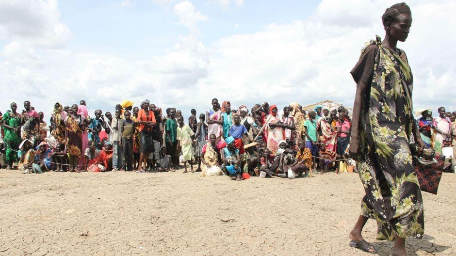 لاجئون هربوا من المعارك في جنوب السودان
