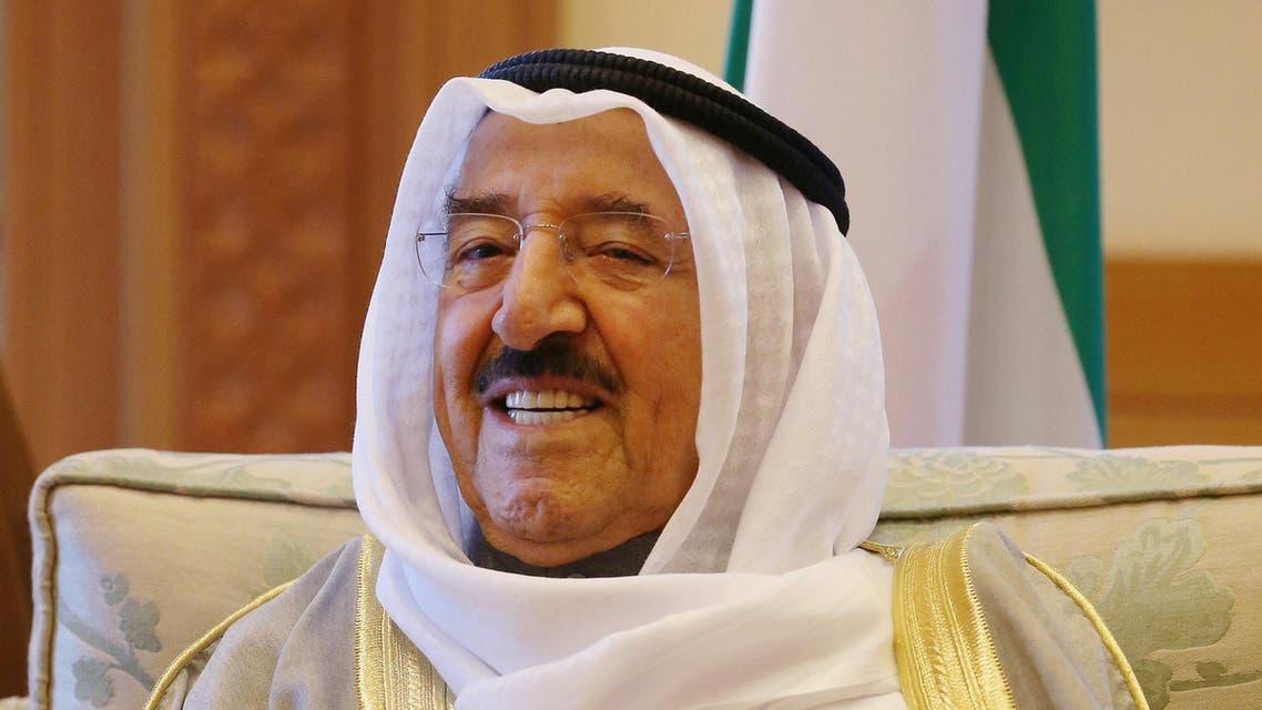 Emir of Kuwait Sheik Sabah Al Ahmad Al Sabah attends a meeting with U.S. Secretary of Defense Chuck Hagel, Monday, Dec. 8, 2014 in Kuwait City.