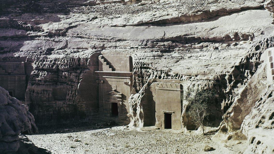 Carved cliff tombs at Mada'en Saleh, Saudi Arabia, date unknown. (AP Photo)