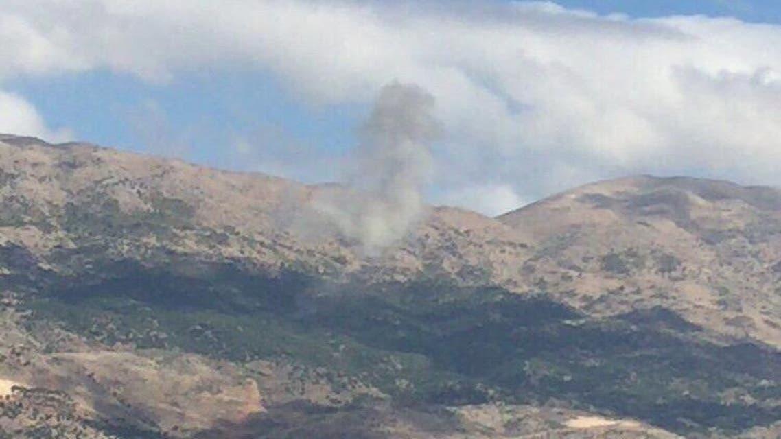 البقاع اللبناني حيث سقطت الطائرة