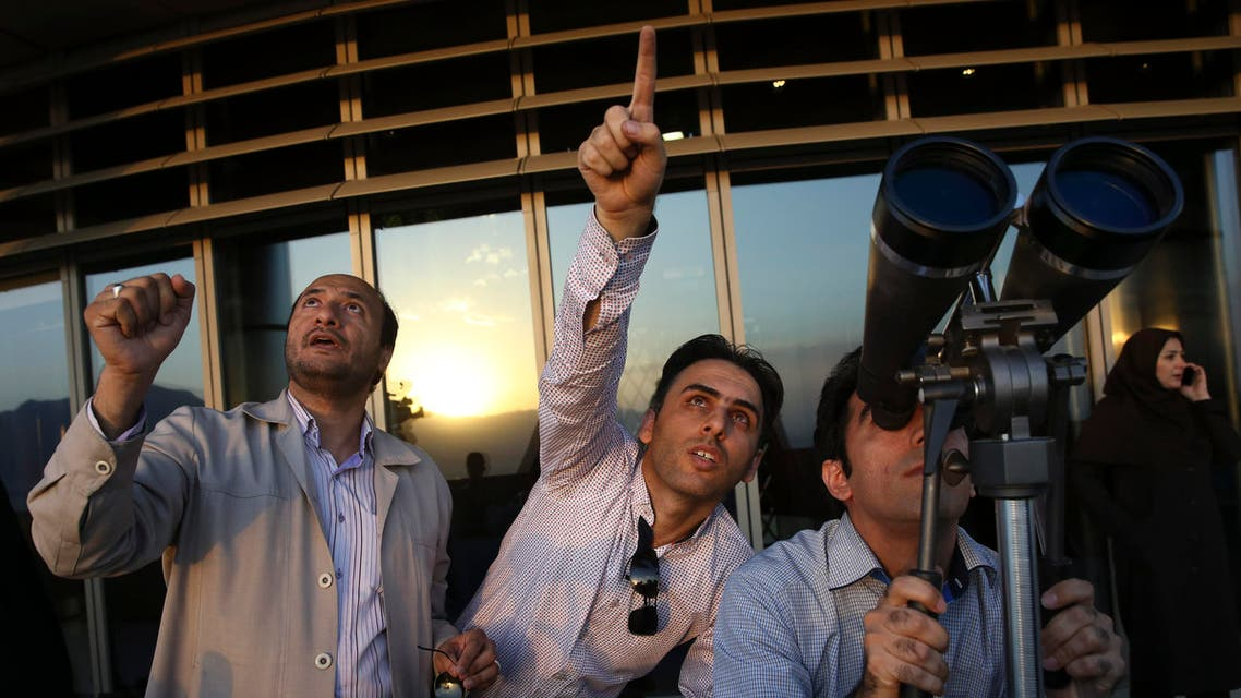 Iranians look at the sky with binoculars for the new moon that signals the start of the Islamic holy month of Ramadan. (File: AP)