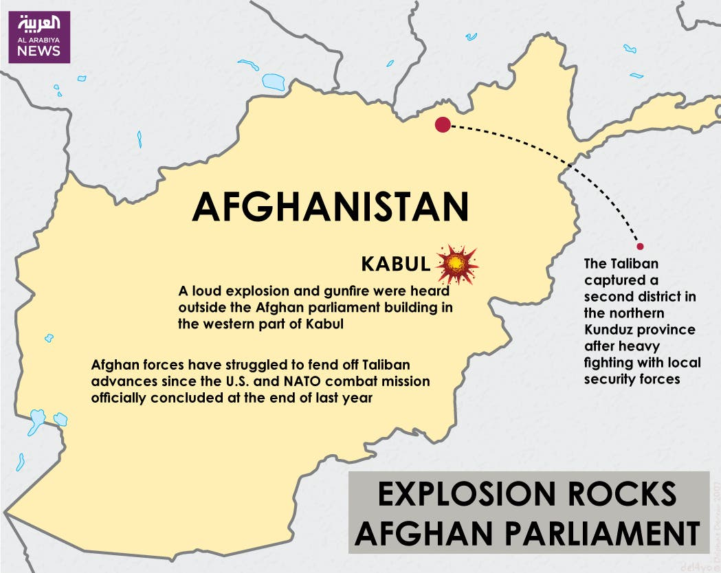 Infographic: Explosion rocks Afghan parliament