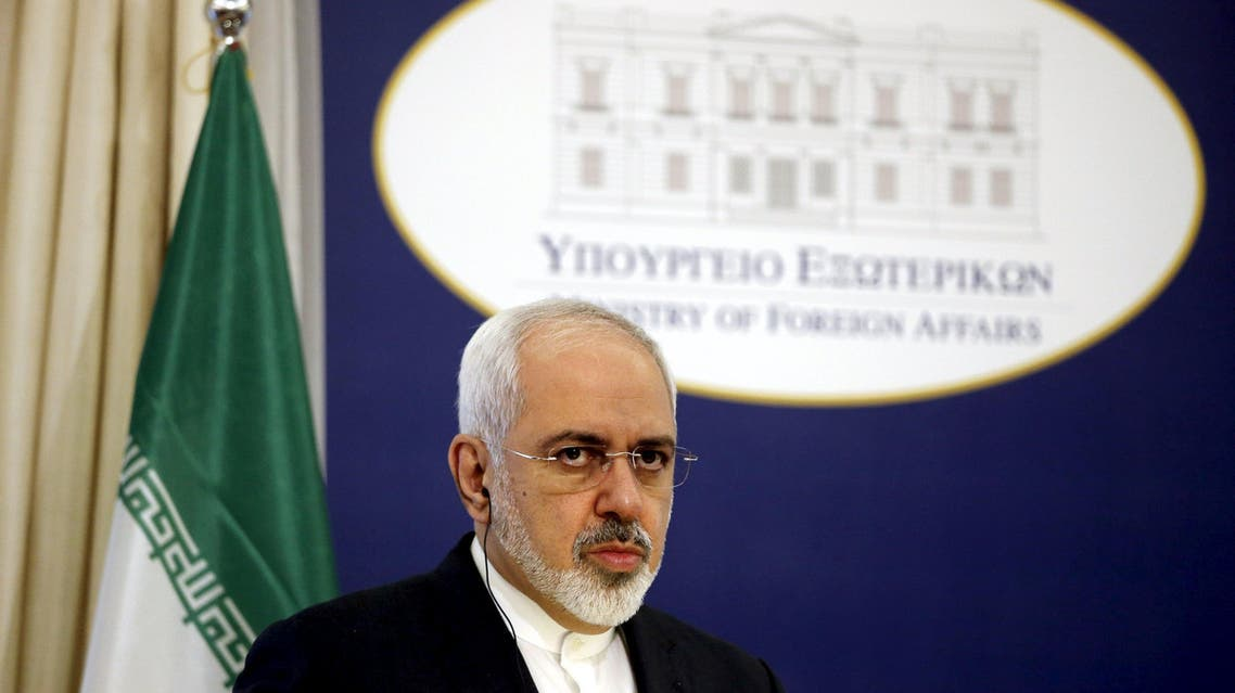 Iranian Foreign Minister Zarif looks on during a joint news conference. (File photo: Reuters)