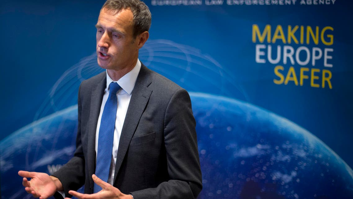The head of the European police agency, Europol, Rob Wainwright answers questions during an interview in The Hague, Netherlands, Friday, Jan. 16, 2015. AP