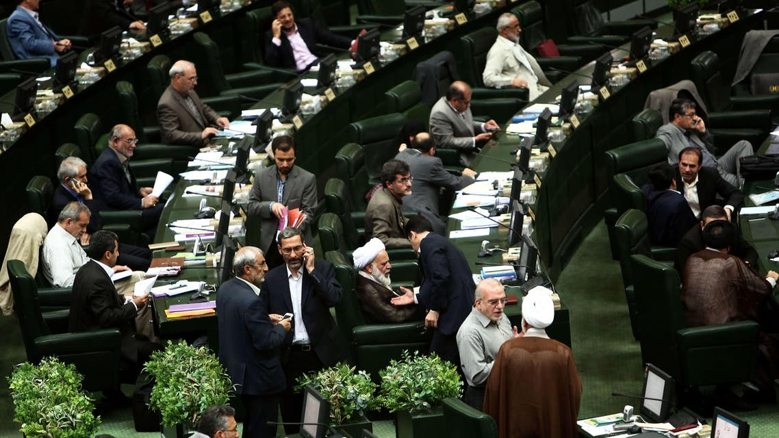 Iranian members of parliament attend a parliamentary session in Tehran on June 23, 2015. AFP