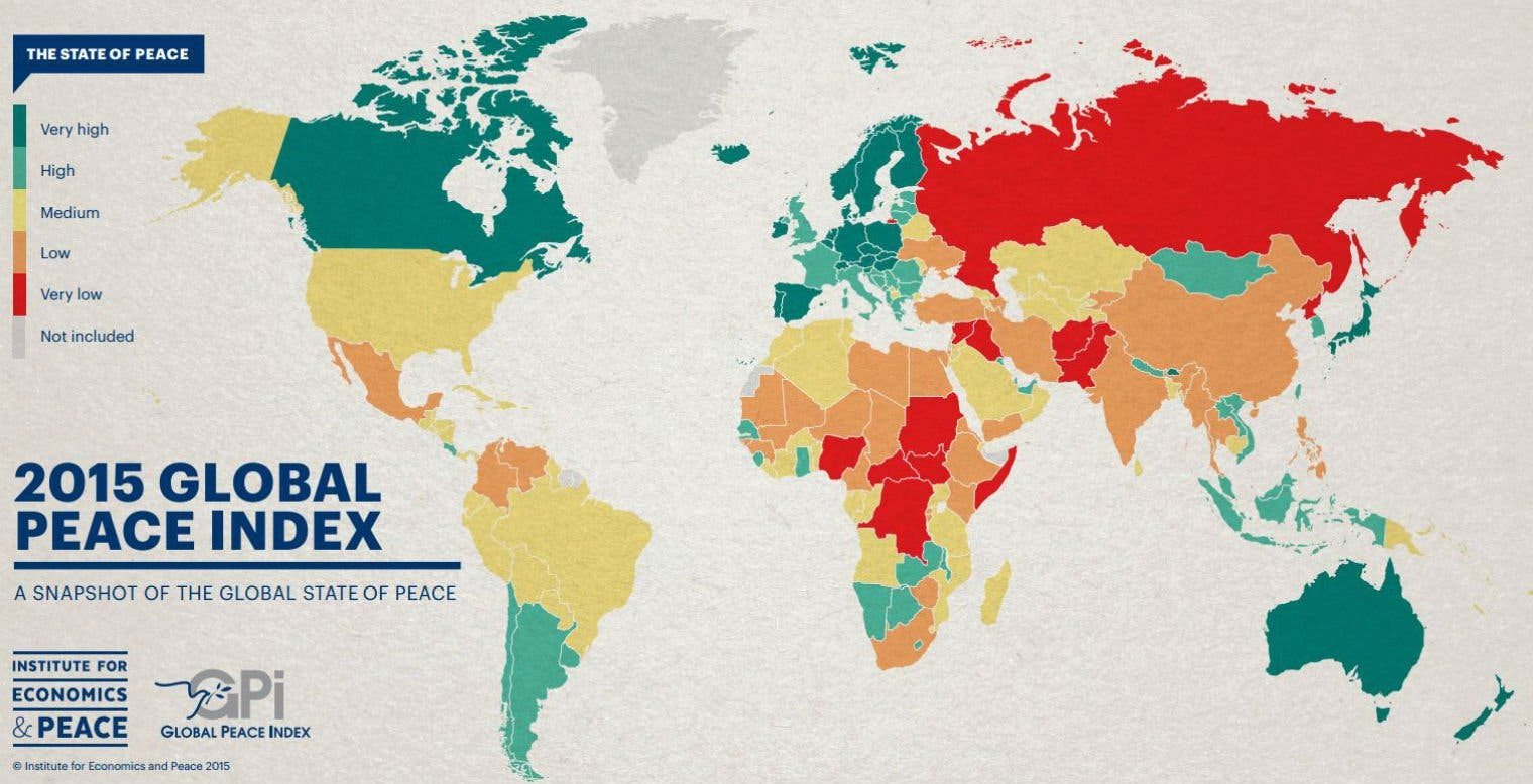 Courtesy: Global Peace Index/ Institute for Economics and Peace
