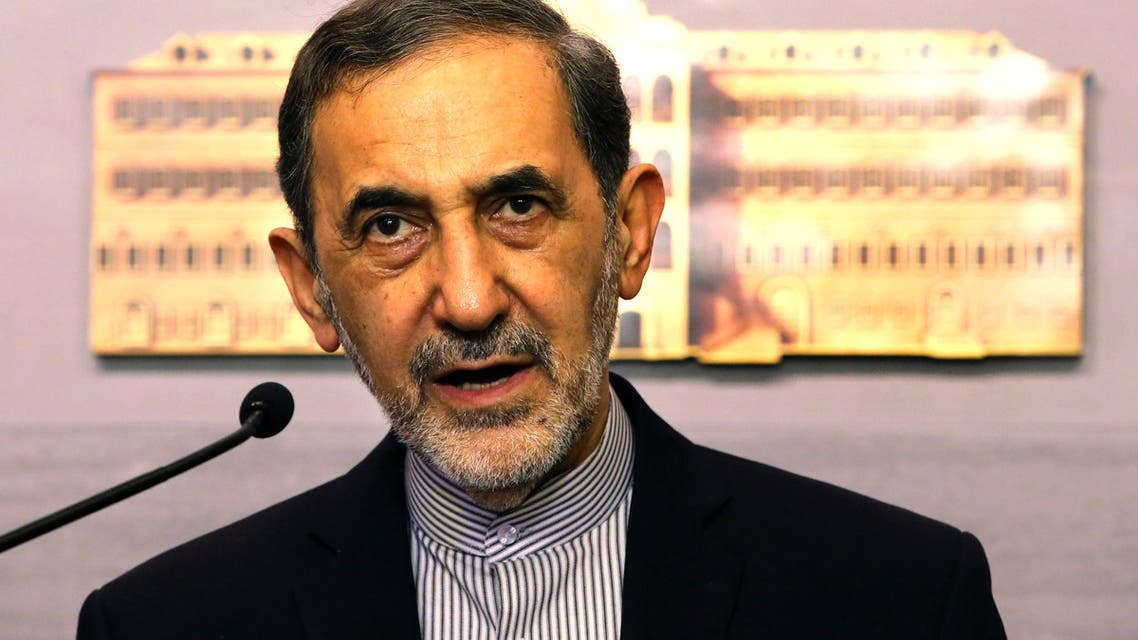 Ali Akbar Velayati, an adviser to Iran's Supreme Leader Ayatollah Ali Khamenei, speaks with reporters after his meeting with Lebanese Prime Minister Tammam Salam, at the government palace in Beirut, Lebanon, Monday, May 18, 2015. AP