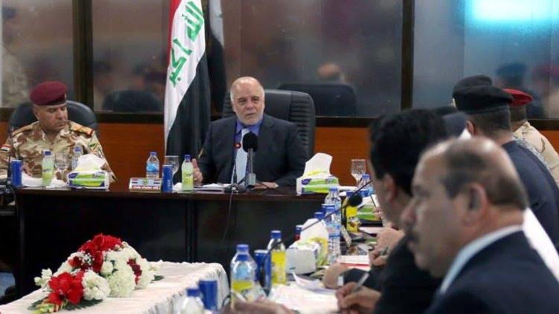 العراق - العبادي مع القيادات الأمنية 3