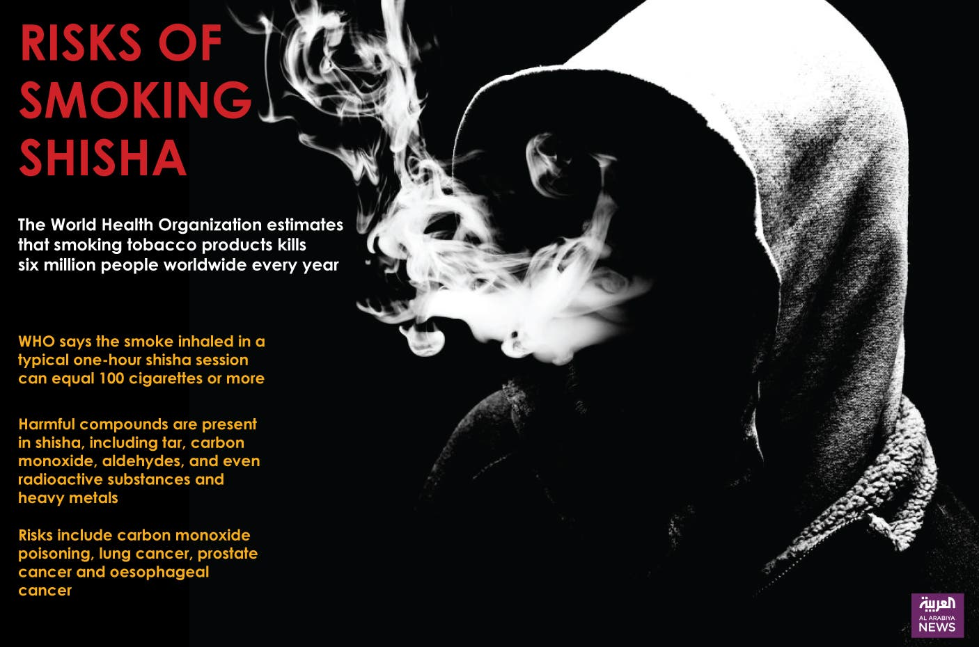 Infographic: Risks of smoking shisha