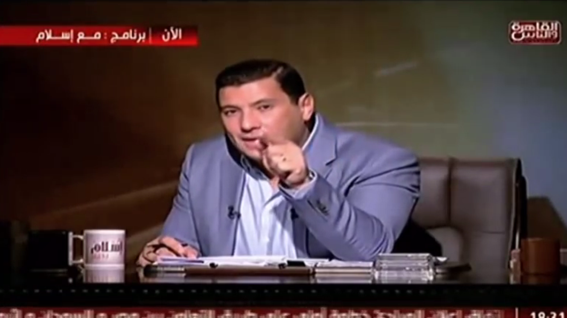 A still from Islam el-Beheiry's show (Video grab)