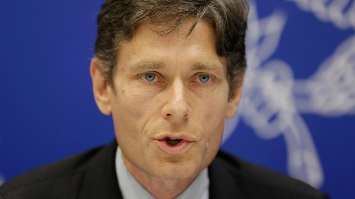 Assistant Secretary for Democracy, Human Rights, and Labor Tom Malinowski speaks at a press conference in Manama, Bahrain, Thursday, Dec. 4, 2014. AP