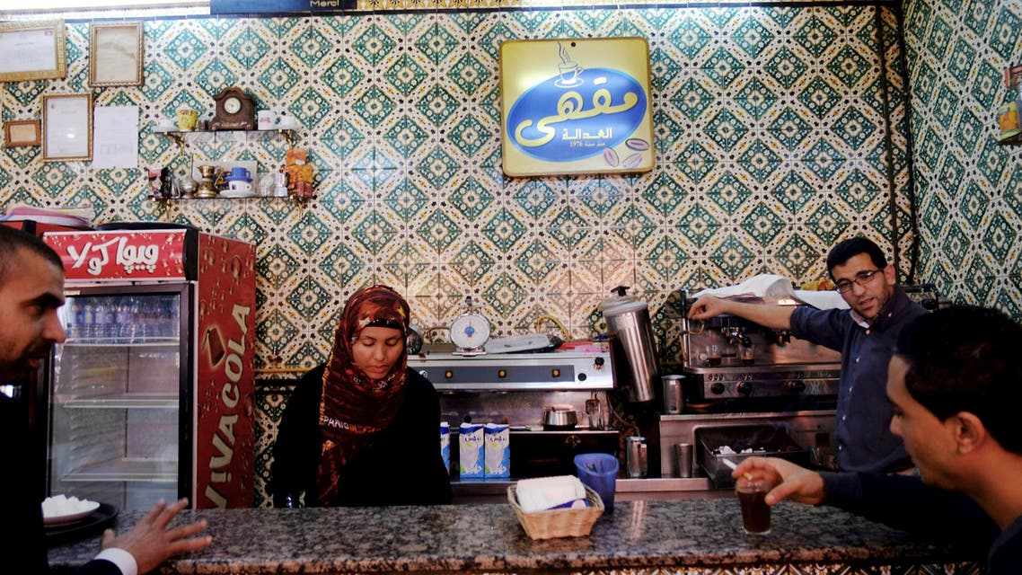 Customers are served coffee in a Tunis cafe, Tunisia (File photo AP)