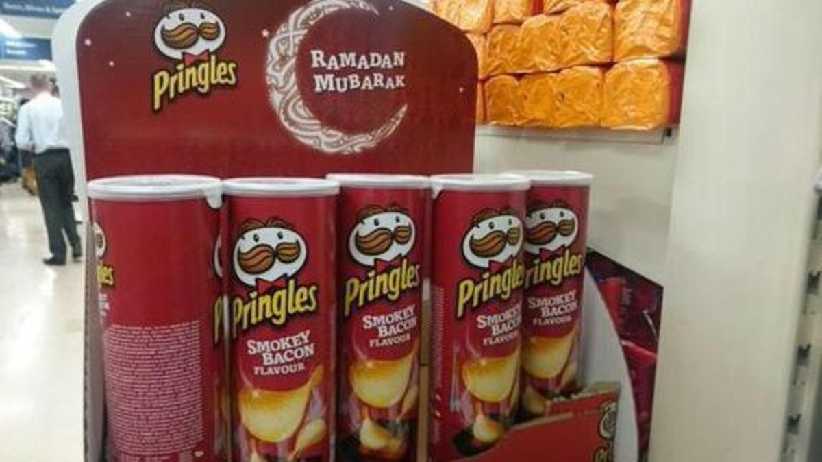 Tesco published a statement earlier that the Pringles will be removed, although the flavoring doesn't contain actual meat products. (@stigabell)