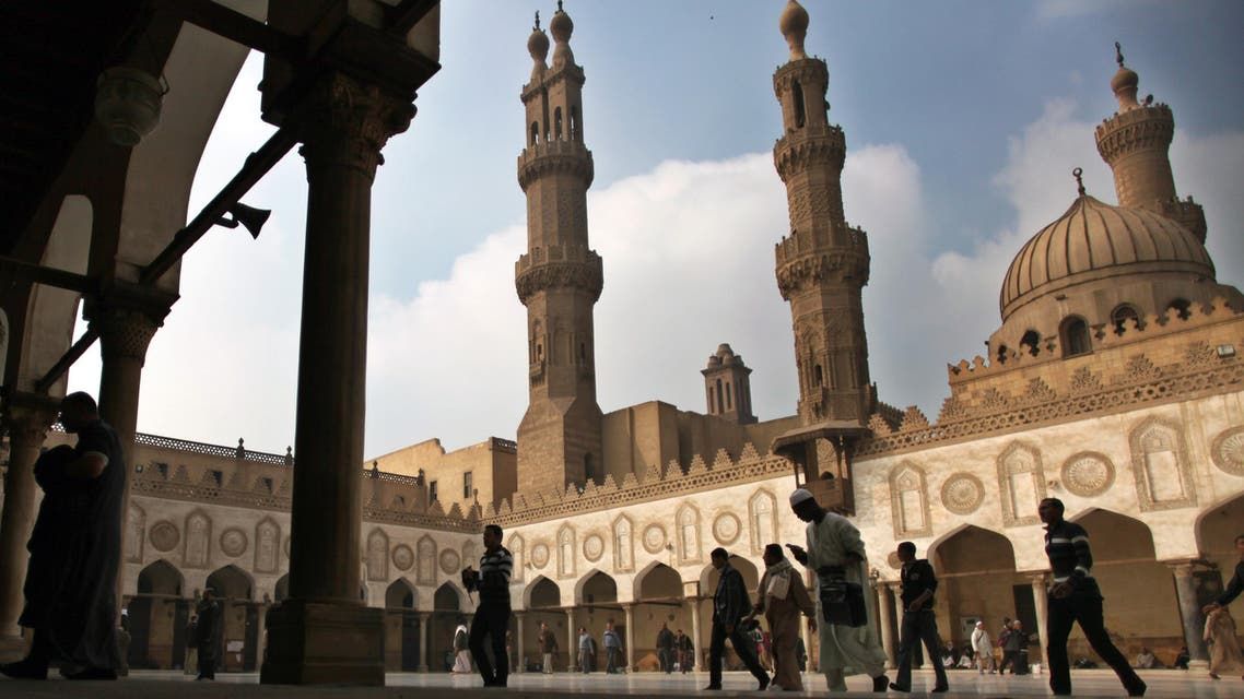 Muslims arrive to attend the Friday prayer at Al-Azhar mosque in Cairo, Egypt, Friday, Dec. 28, 2012. (AP)