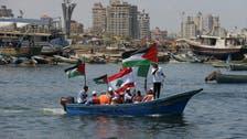 Activists sail for Gaza aboard 'freedom flotilla'