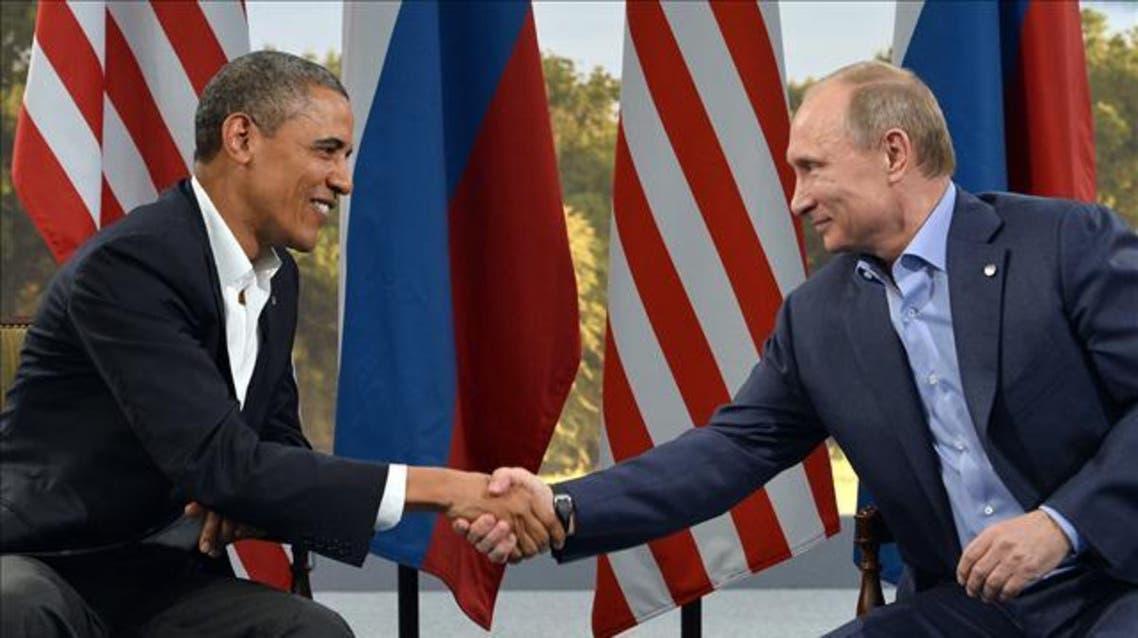 ولادیمیر پوتین رئیس جمهوری روسیه و باراک اوباما رئیس جمهوری آمریکا