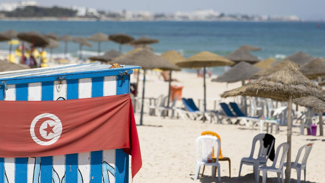 A picture taken on June 27, 2015, shows an empty beach in Sousse near the beach of the Riu Imperial Marhaba Hotel in Port el Kantaoui, on the outskirts of Sousse south of the capital Tunis, following a shooting attack a day earlier. AFP