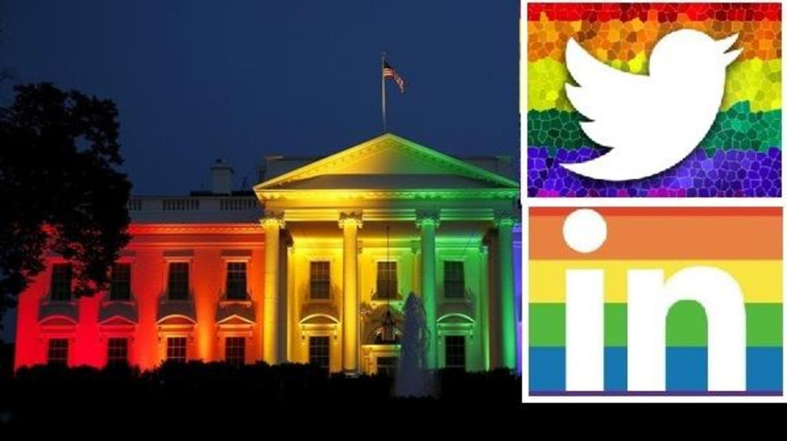 The White House is illuminated in rainbow colors after today's historic Supreme Court ruling legalizing gay marriage in Washington June 26, 2015. (Reuters)