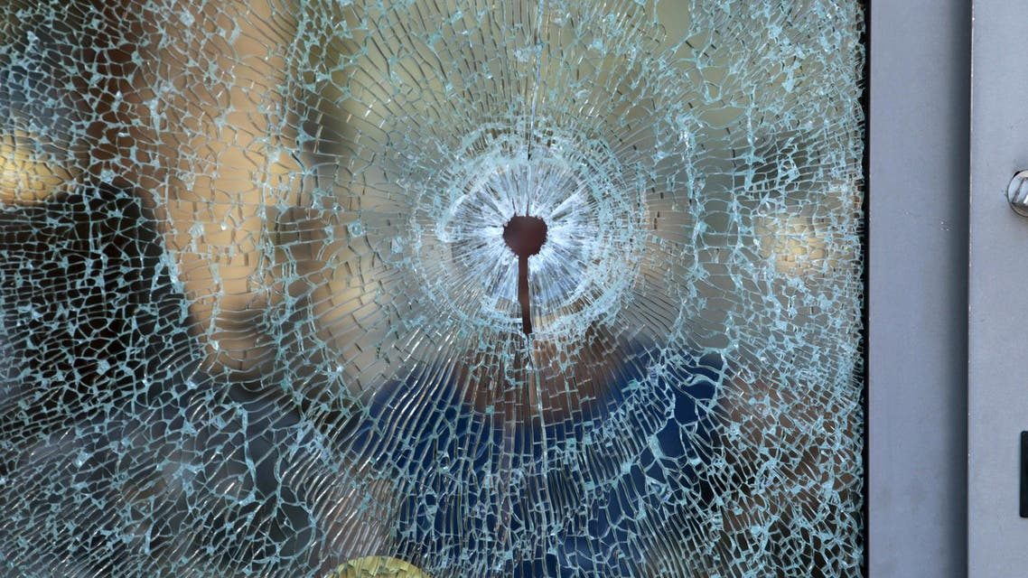 A broken glass window of the Imperiale Marhaba hotel is seen after a gunman opened fire at the beachside hotel in Sousse, Tunisia. (Reuters)
