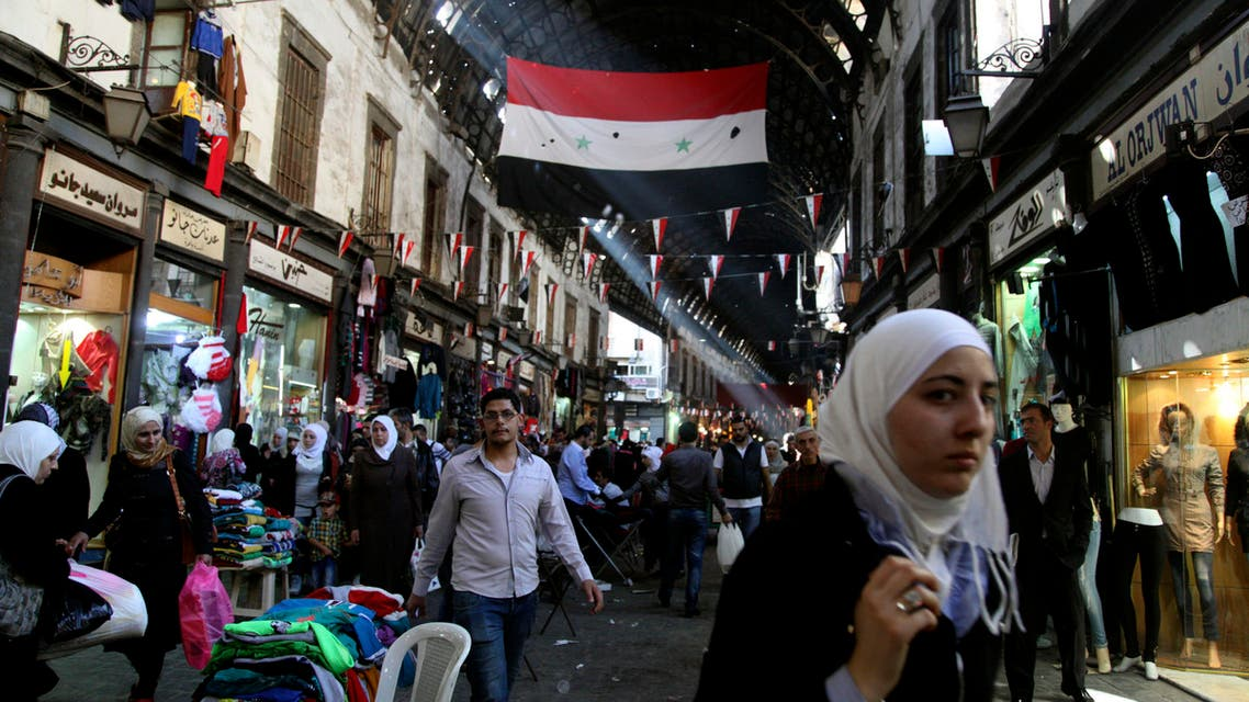 eople shop in the ancient bazaar known as the Hamidiyeh souq in Damascus Syria, Monday, Oct. 27, 2014. AP