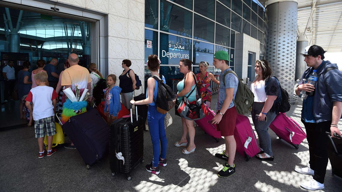 British tourists leave Tunisia at the Enfidha International airport on June 27, 2015. AFP