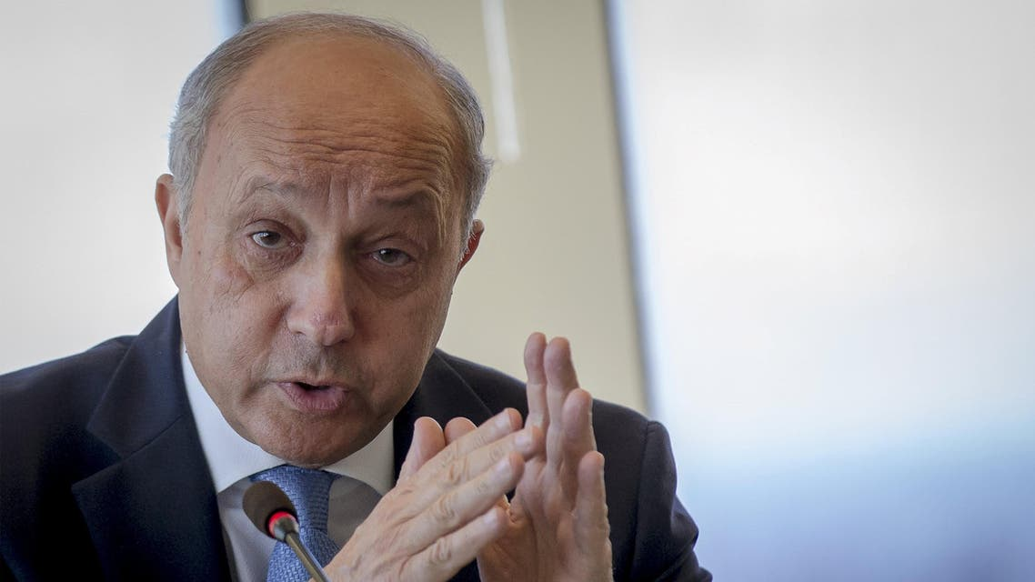 French Foreign Minister Laurent Fabius speaks to journalists during a news briefing at the French Mission in New York June 29, 2015. REUTERS