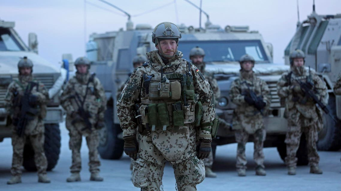 German soldiers stand guard at German NATO base Camp Marmal in Afghanistan. (File: AP)