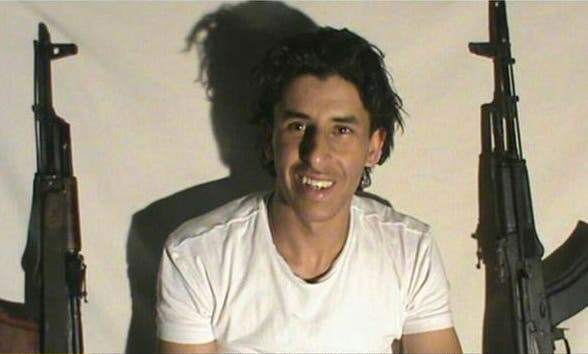 This image taken from a militant website associated with Islamic State extremists, posted Saturday, June 27, 2015, purports to show Tunisian gunman Seifeddine Rezgui who killed tens of people in the Tunisian beach resort of Sousse on Friday. (Militant photo via AP)