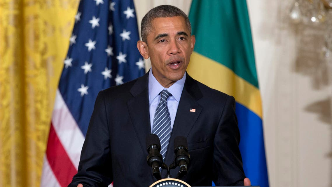 President Barack Obama speaks during a joint news conference with Brazilian President Dilma Rousseff, Tuesday, June 30, 2015, in the East Room of the White House in Washington. Obama and Rousseff aim to show they've moved beyond tensions sparked by the revelation nearly two years ago that the U.S. was spying on Rousseff. (AP Photo/Carolyn Kaster)