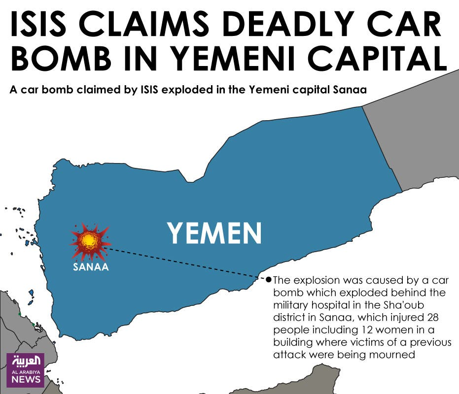 Infographic: ISIS claims deadly car bomb in Yemeni capital