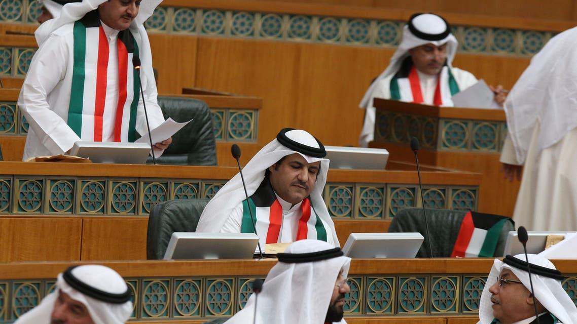 جانب من جلسة مجلس الأمة الكويتي حول المخصصة للتفجير