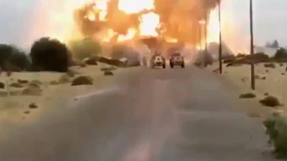 """""""العربية نت"""" تنشر فيديو التفجير الانتحاري في سيناء"""