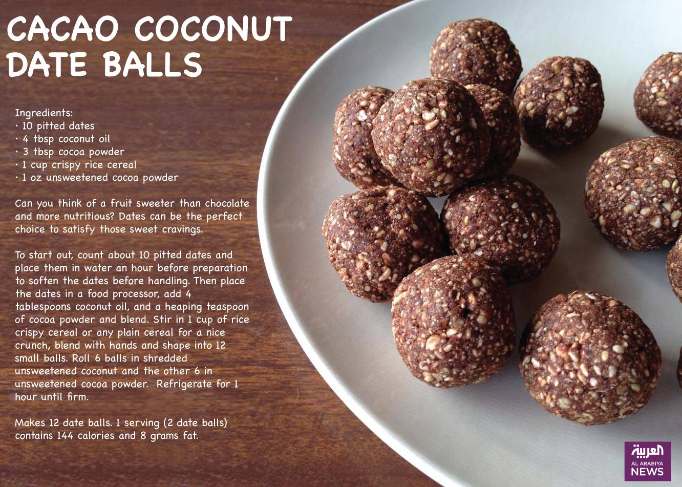 Cacao Coconut Date balls