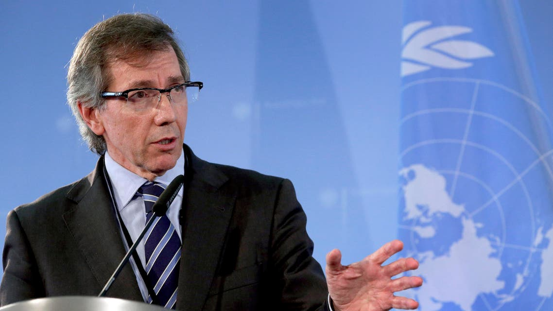 The U.N. special representative for Libya, Bernardino Leon, addresses the media. (AP)