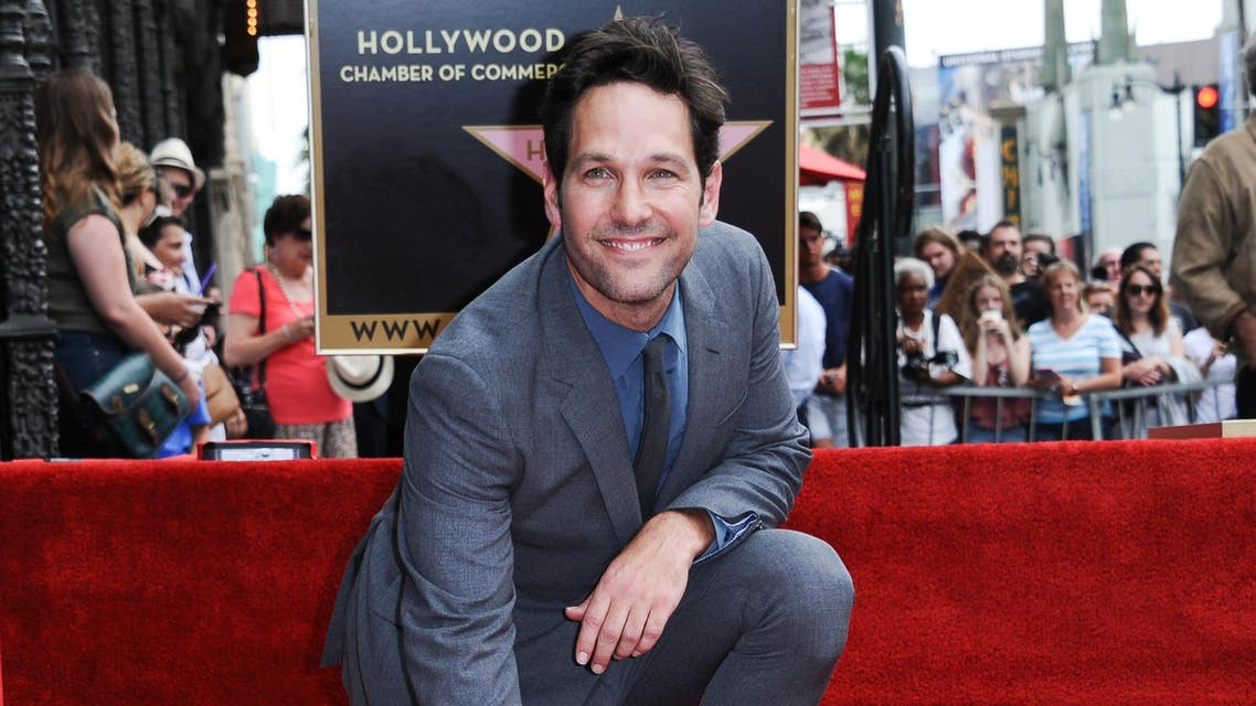 Paul Rudd is honored with a star on the Hollywood Walk of Fame on Wednesday, July 1, 2015 in Los Angeles. (Photo by Richard Shotwell/Invision/AP)