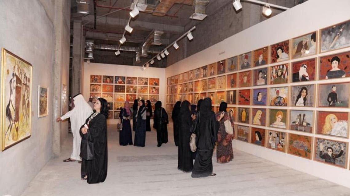 Some 14 different galleries across Jeddah, like the one at Gold Moore Mall, are participating in the fair