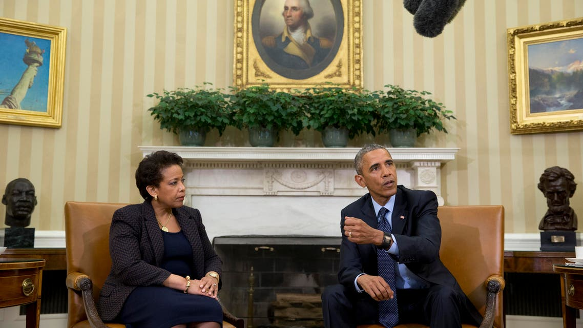 President Barack Obama speaks to media as he meets with Attorney General Loretta Lynch in the Oval Office of the White House in Washington, Friday, May 29, 2015. (File Photo: AP)