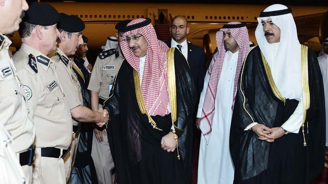 Saudi Crown Prince and Interior Minister Prince Mohammad bin Nayef arrives in Kuwait. (SPA)