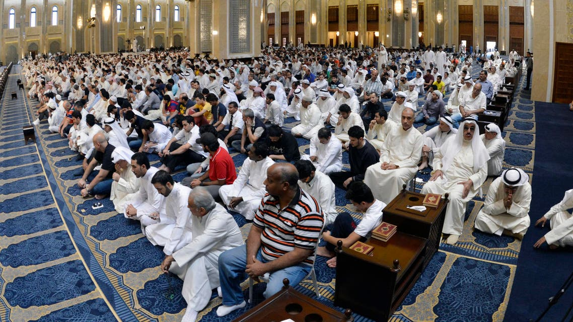 Sunni and Shiite worshippers attend joint Friday prayers at the Grand Mosque in Kuwait City on Friday, July 3, 2015, one week after a suicide attack by an Islamic State sympathizer in Shiite worshippers. Instead of fueling the kind of sectarian animosity that has devastated Iraq and Syria, the Kuwait attack has reawakened a sense of national solidarity not seen since Saddam Hussein's 1990 invasion. (AP Photo)
