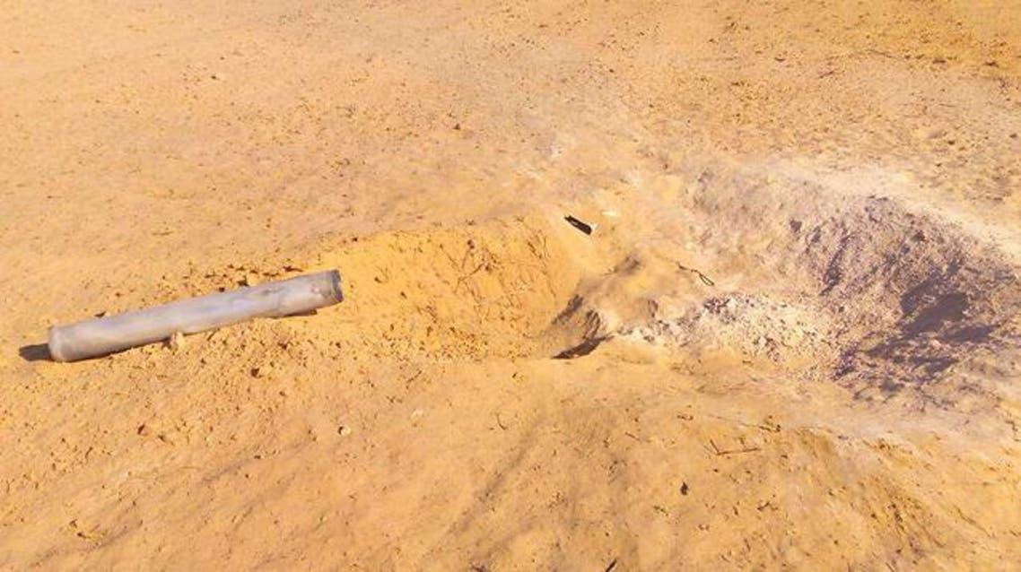 موقع سقوط صاروخ تقول اسرائيل انه اطلق من سيناء