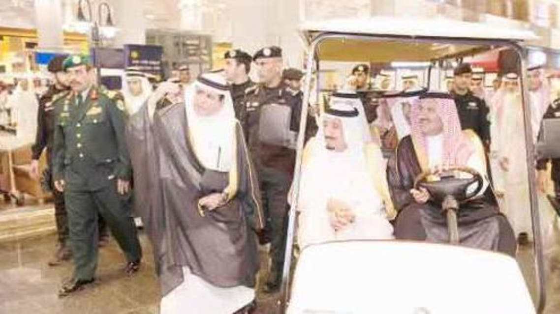 Custodian of the Two Holy Mosques King Salman inspects the interior of Prince Muhammad Bin Abdulaziz International Airport in Madinah. — SPA