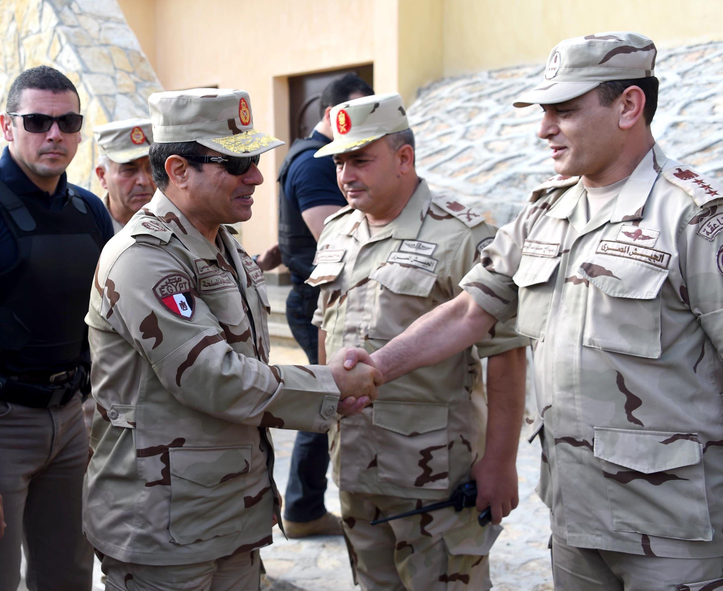 من زيارة السيسي لشمال سيناء في يوليو 2015