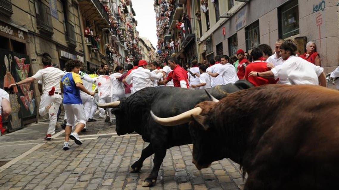 مهرجان إطلاق الثيران الهائجة