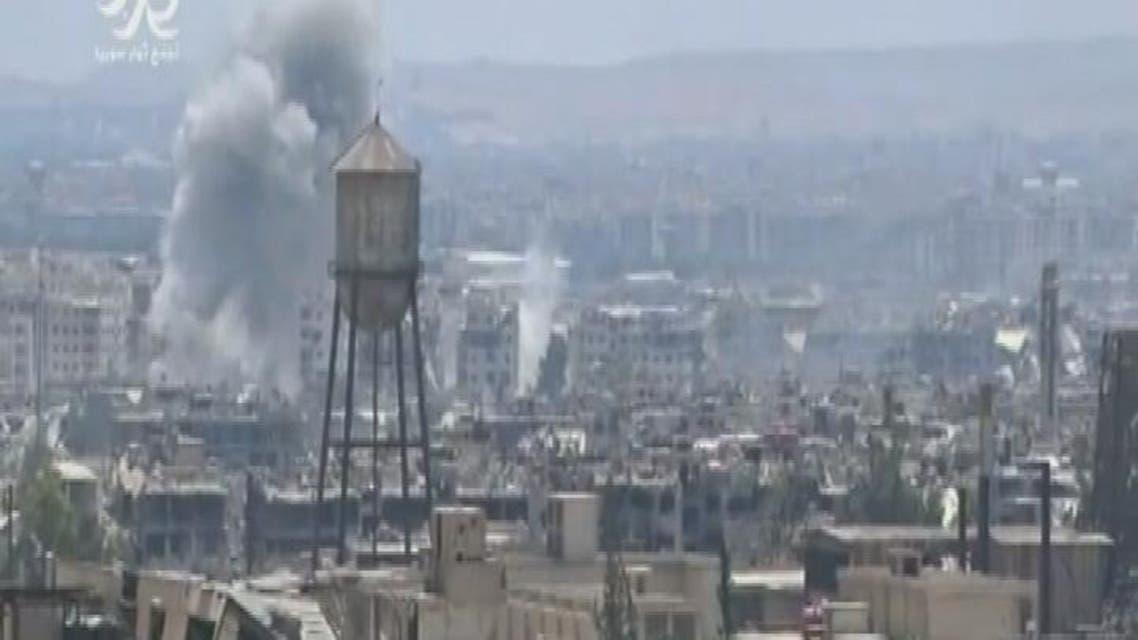 THUMBNAIL_ 90 غارة شنها نظام الأسد على الزبداني