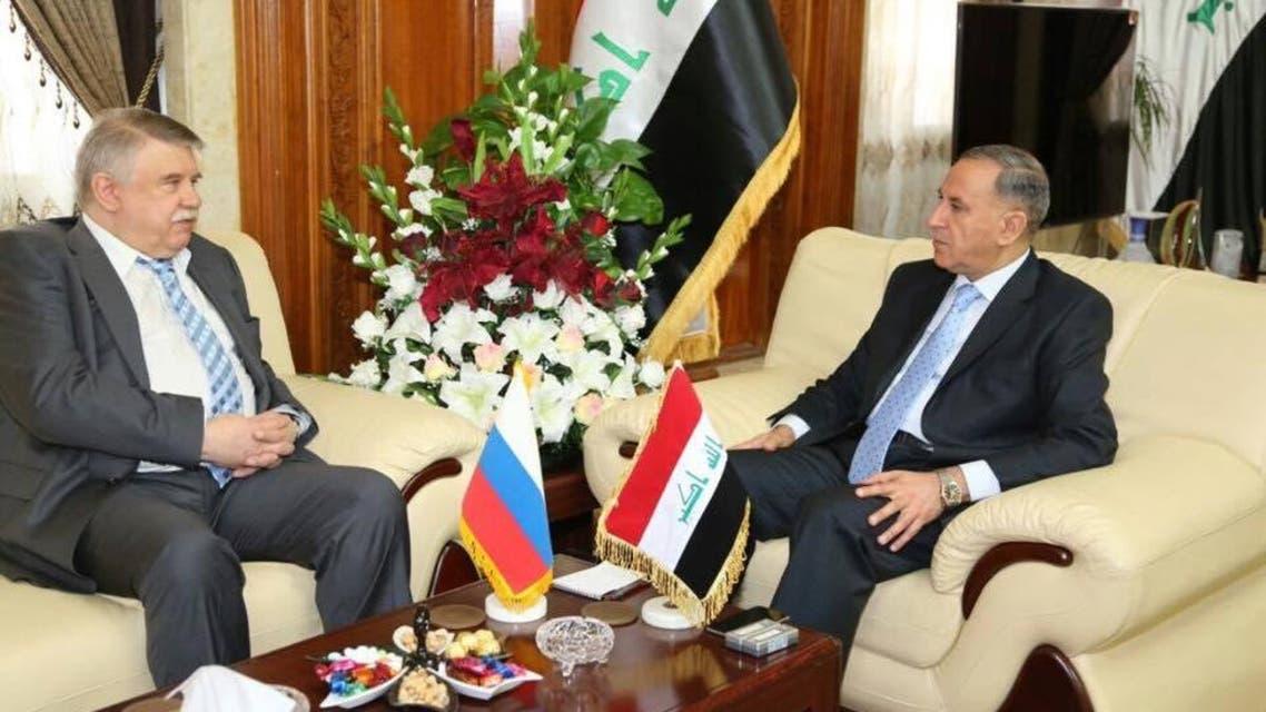 وزير الدفاع العراقي مع السفير الروسي