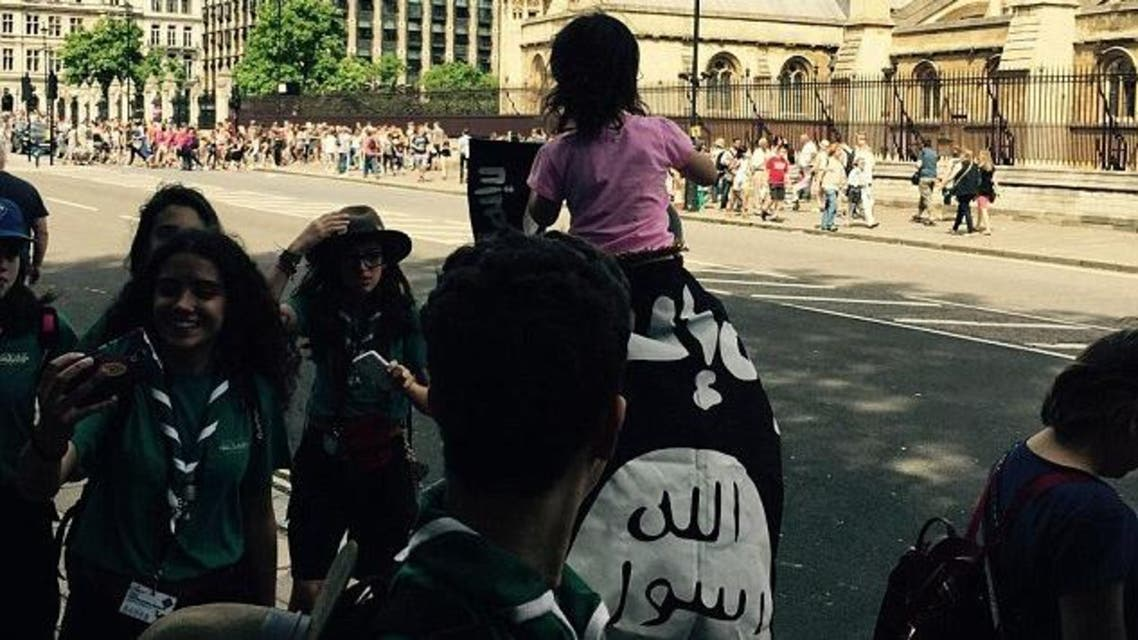ISIS flag London extremists foreign fighters (Photo courtesy: Liveleak)