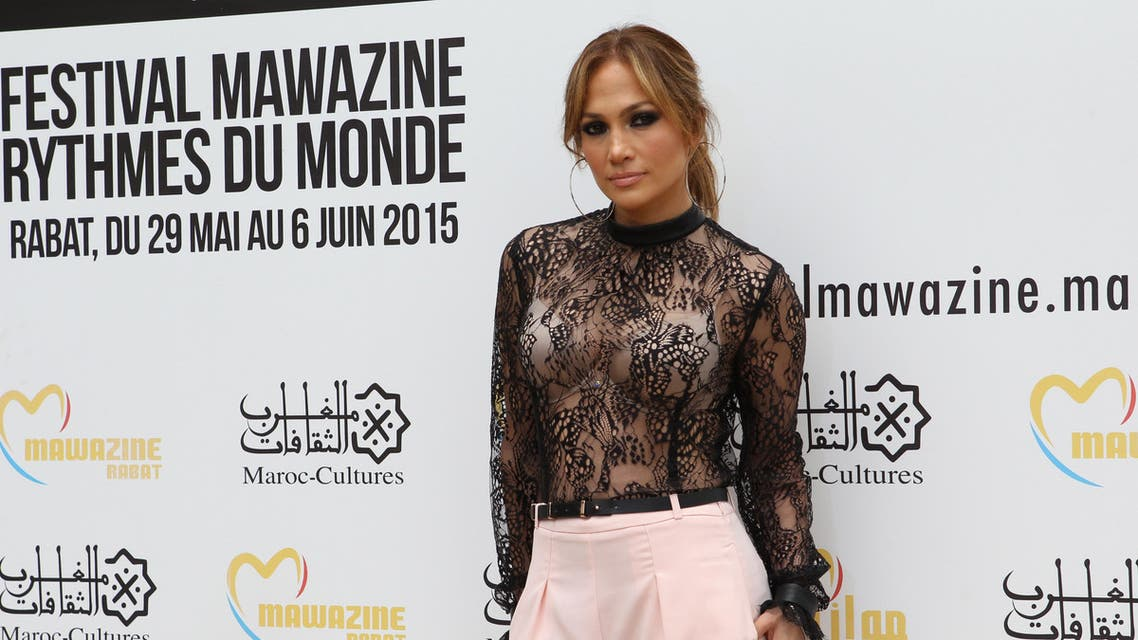 Jennifer Lopez poses before a press conference, during the Mawazine Festival in Rabat, Morocco, Thursday May 28, 2015. AP